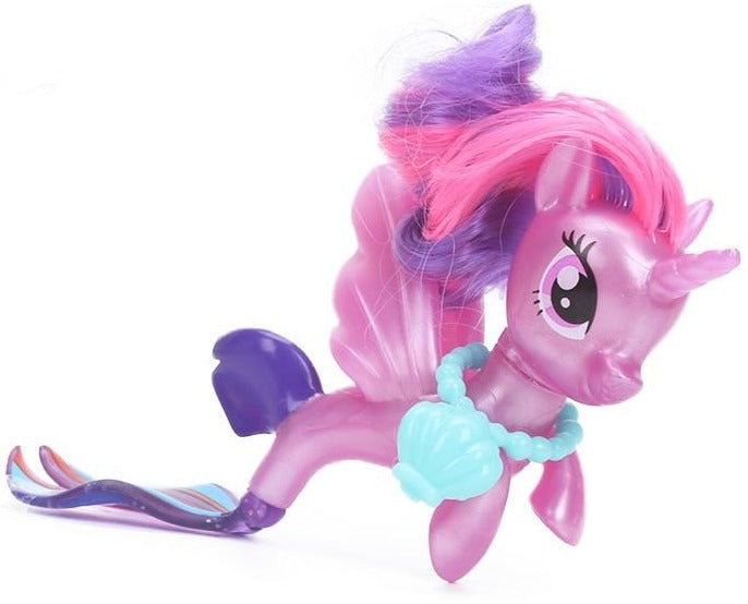 New Movie My Little Pony Fluttershy Rainbow Dash Pinkie Pie Seapony PVC Action Figures Shiny Pony Colletion Model Dolls Gift Toy