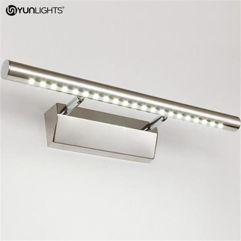 Stainless   Bathroom   Natural   Mirror   Steel   Front   White   Light   Lamp   Wall   LED   AC