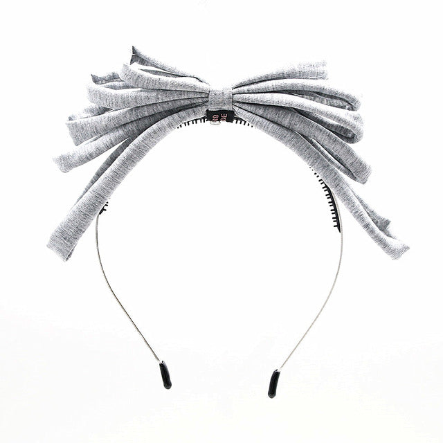 New Summer style jersey cotton 5 layor bow girls fashion hairband headband hair accessories