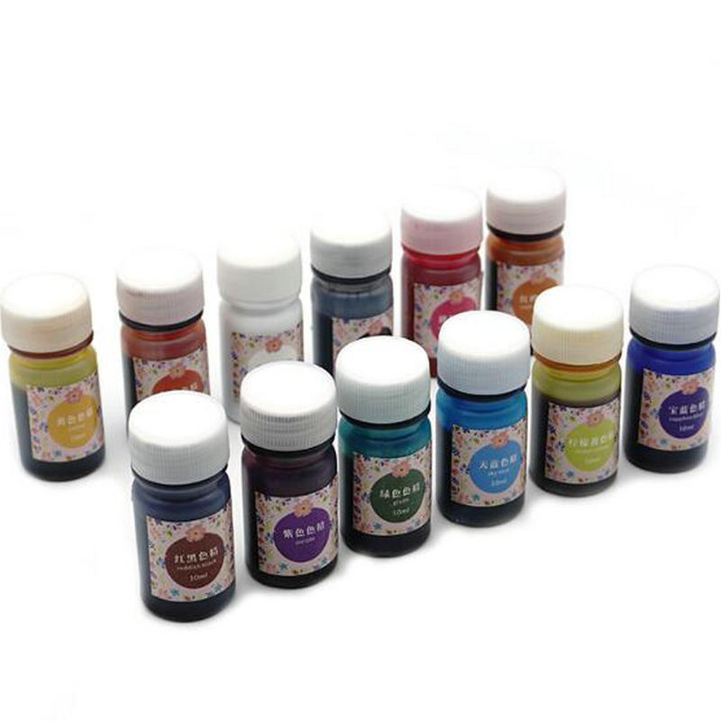 12 Piece: 10g Liquid Silicone Epoxy Resin Pigment Dye Colors