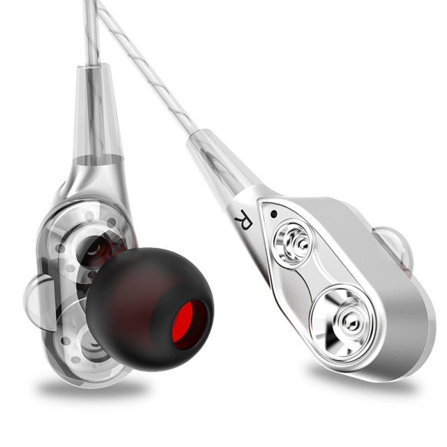 V3 Wired Heavy Bass In-Ear Noise Cancelling Stereo Headphones with Mic