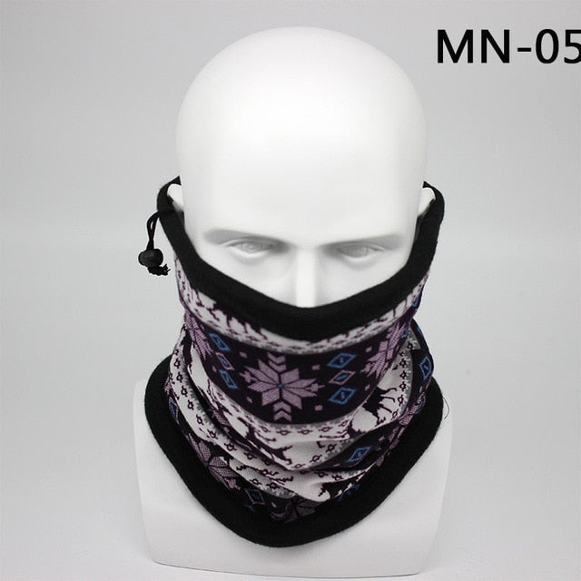 Seamless Winter Warm Bandana Scarf