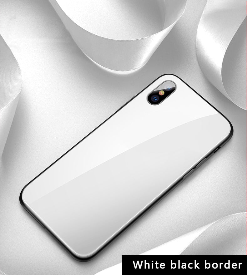 Sleek Luxurious Full Protection Tempered Glass iPhone Case