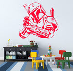 Creative Special Star Wars Bobba Fett Bounty Hunter Silhouette Wall Sticker Vinyl Art Wall Sticker Home Decor Wallpaper Y-847