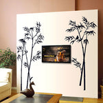 Black Bamboo Wall Stickers Art DIY Wall Stickers Home Decor Living Room Bedroom Autocollant Mural Background Stickers