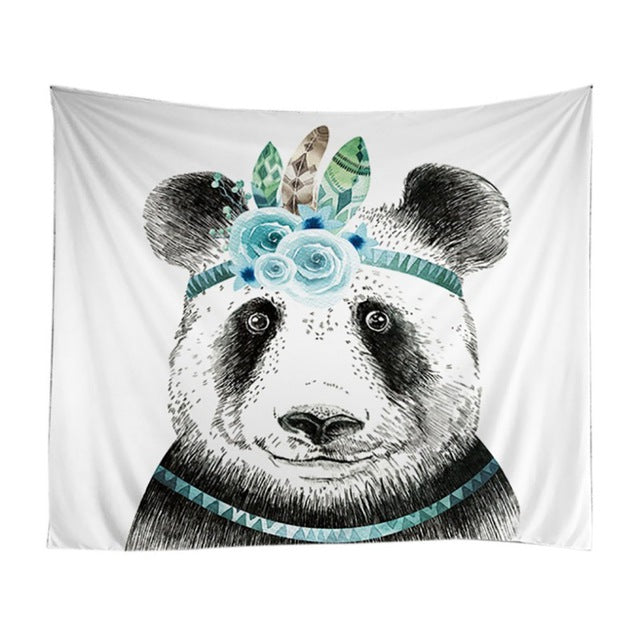 Chinese Classical Style Panda Shower Curtains Bathroom Curtain Bathroom Products Waterproof Accessories