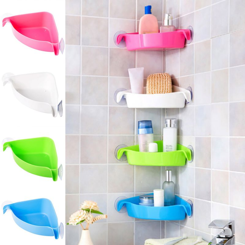 Bathroom Shower Mounted Corner Rack
