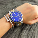 Men's Full Stainless Steel Jacket Luxury Wristwatch