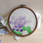 Wood cross stitch embroidery Hoop Ring