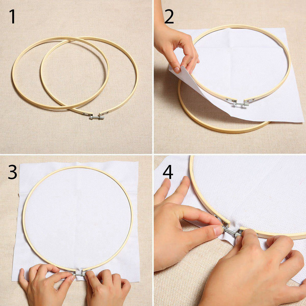 42x Embroidery Circle Set