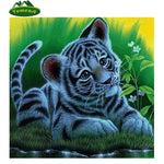 Animal Cat 5D Cross Stitch DYI Diamond Painting Rhinestones Embroidery Set Canvas