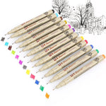 PRO Pigma Micron Waterproof Drawing Pen Set - 12 Colors