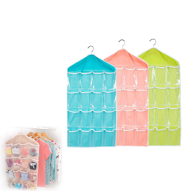 16 Pocket Clothes Sorting Hanging Closet Storage Organizer