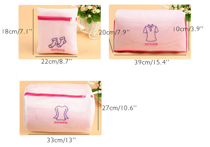Fashion Fine Embroidered Bra Lingerie Special Wash Bag Padded Machine Washable Mesh Kit Laundry Basket Bag