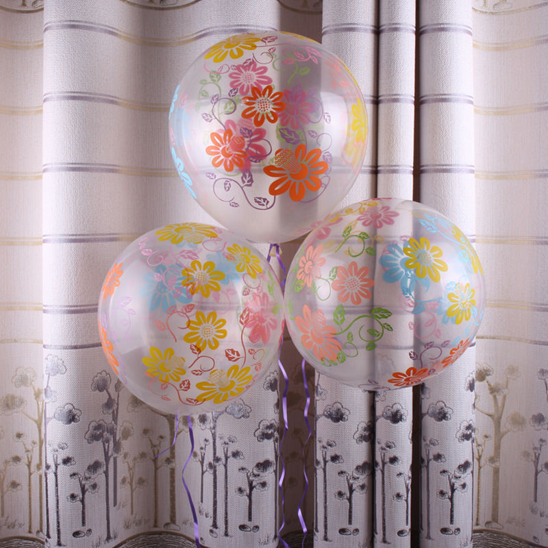 GOGO PAITY 10pcs/lot  New transparent latex balloon children 's holiday wedding scene layout decorative balloon