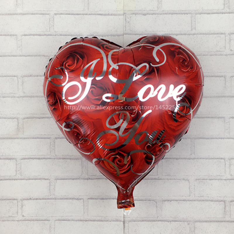 Heart-Shaped Birthday Holiday Party Decorative Foil Balloons
