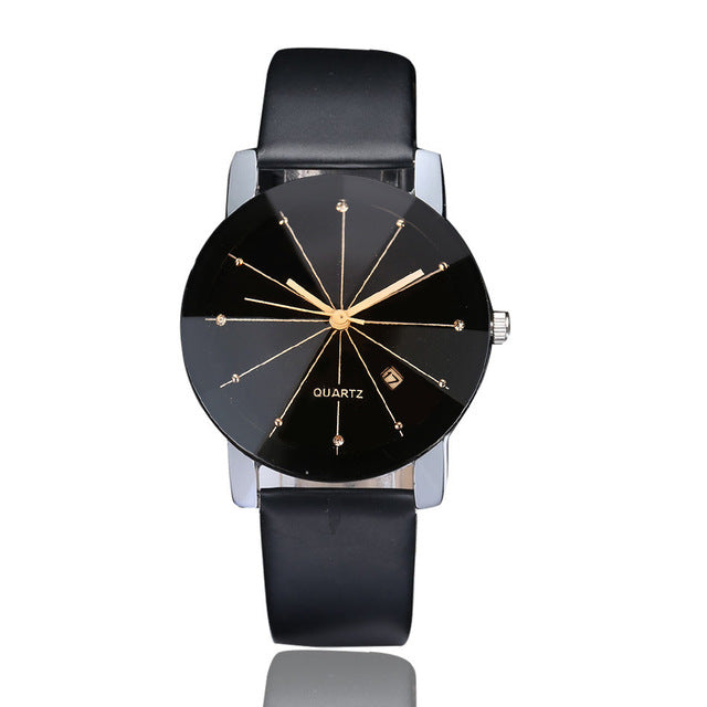 Women hours Luxury Stainless Steel Quartz Date Sport Leather Band Dial Wristwatches Female Clock
