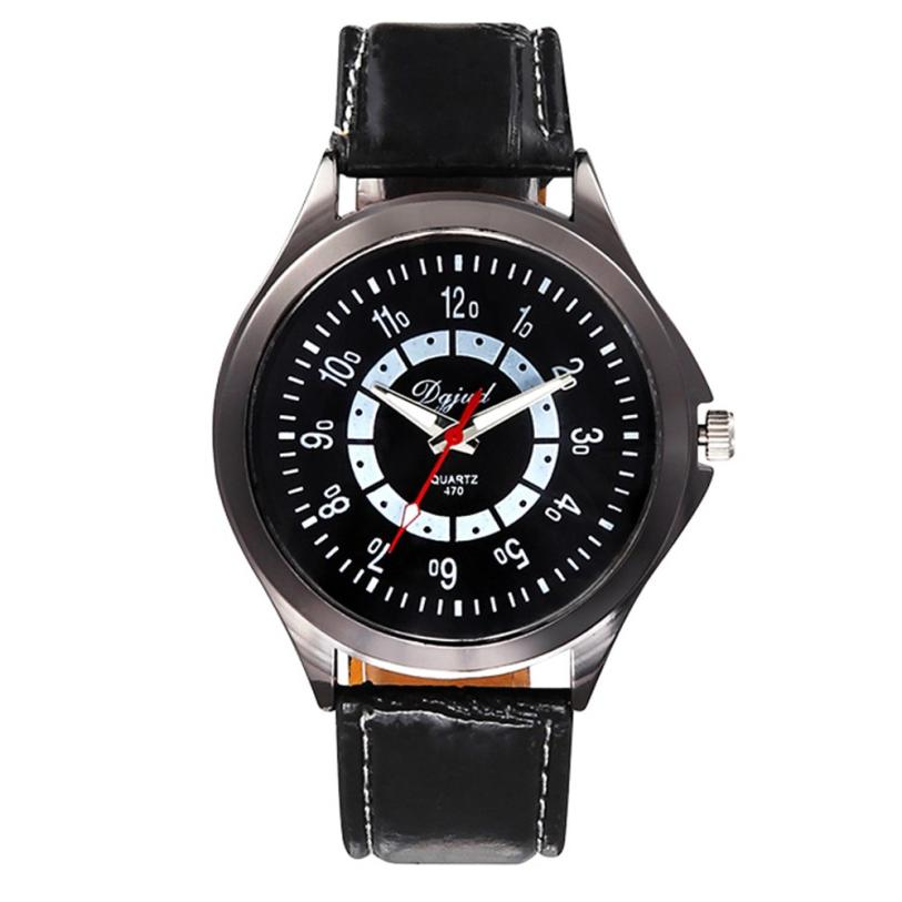 Watch relogio masculino  Leather Watch Men Sport Analog Quartz Wrist Watch