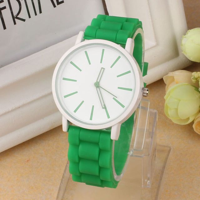 design fashion woman watch Silicone Rubber Jelly Gel Quartz Analog watch Sports Women Wrist Watch Unisex