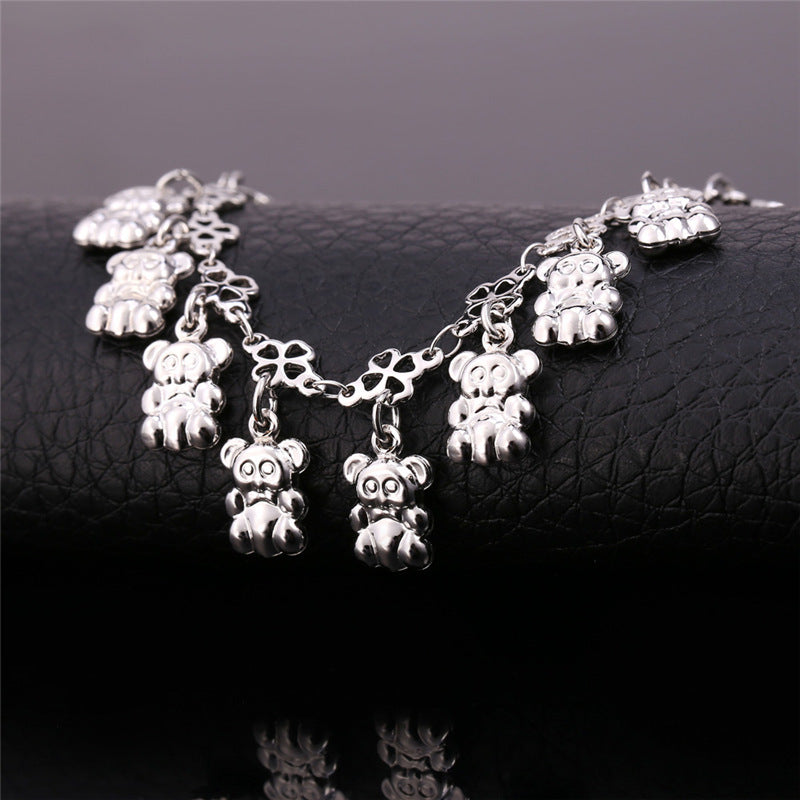 Anklets For Women Foot Jewelry Cute Bear Fashion Jewelry Gold/Silver Color Anklet Bracelet On A Leg A929