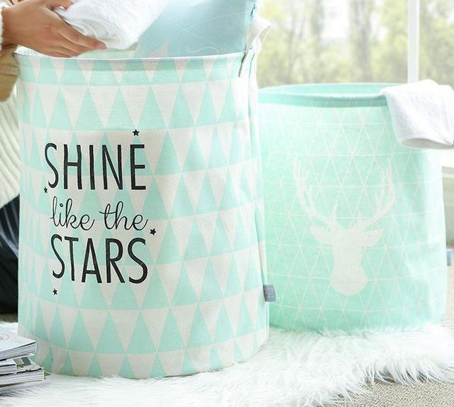 Mint Green Laundry Clothing Storage Basket
