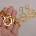 Anniyo CANNOT CUSTOMIZE / LIKATU Pendant Necklaces and Earrings sets for Women,Gold Color Jewelry Island style Gifts #033421