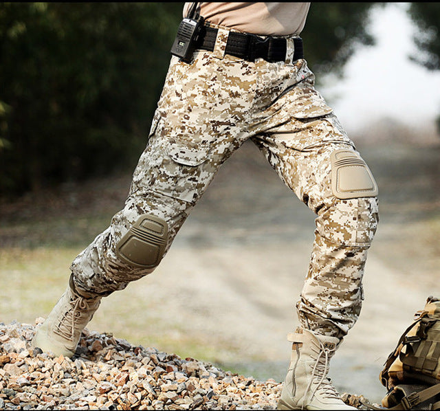 Camouflage   Military   Cargo   Knee   Pant   Pad