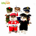 Funny Cat Clothes Costume Nurse Policeman Suit Clothing For Cat Cool Halloween Costume Pet Clothes Suit For Cat XS-2XL 27S1