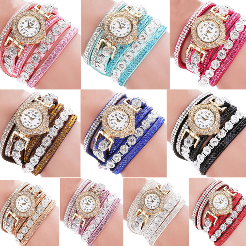 Women's Bracelet Watch With Rhinestones