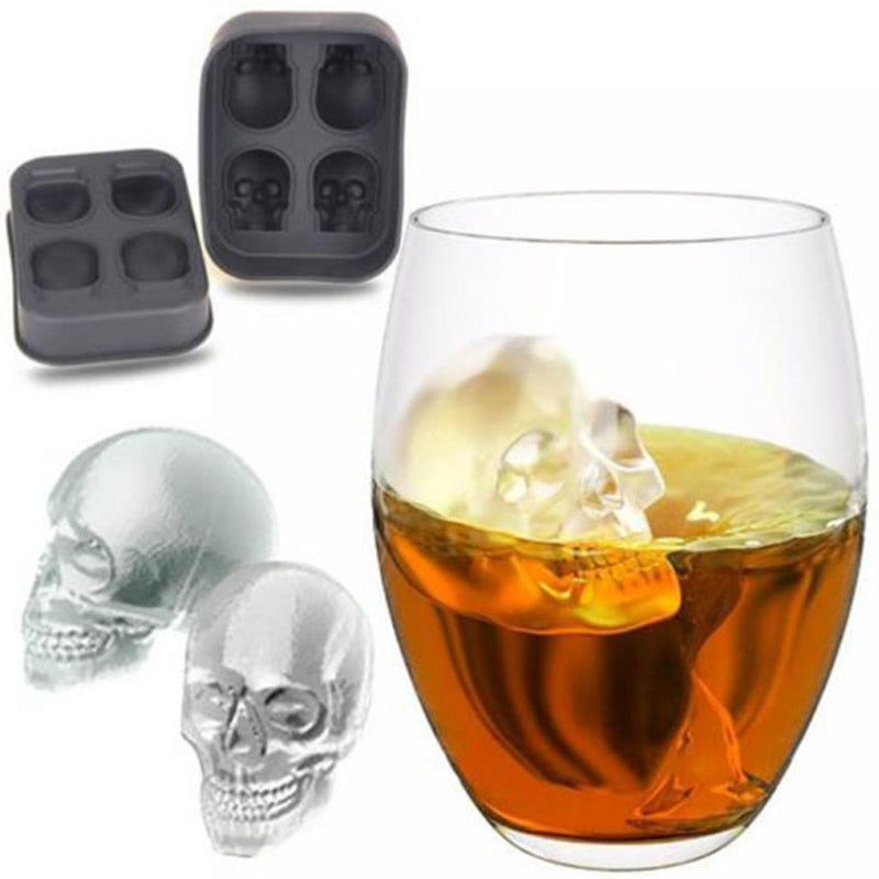 3D Silicone Skull Ice Maker