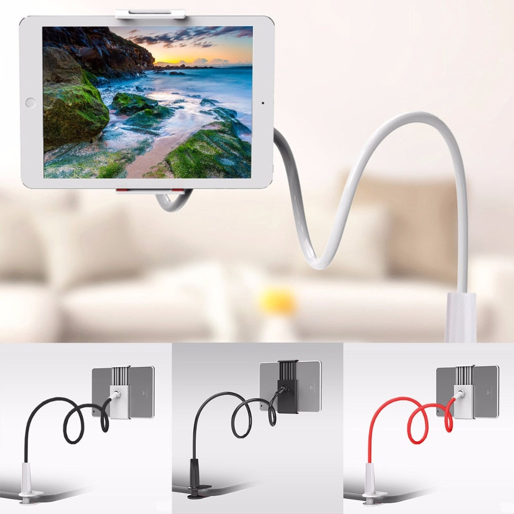 Flexible Lazy Arm Phone and Tablet Holder with Mount Clamp