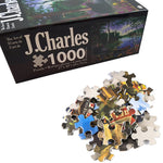 J. Charles Cabin Fever Puzzle (1000-piece) Puzzles Noctilucent Educational Toys For Children Adult Puzzles