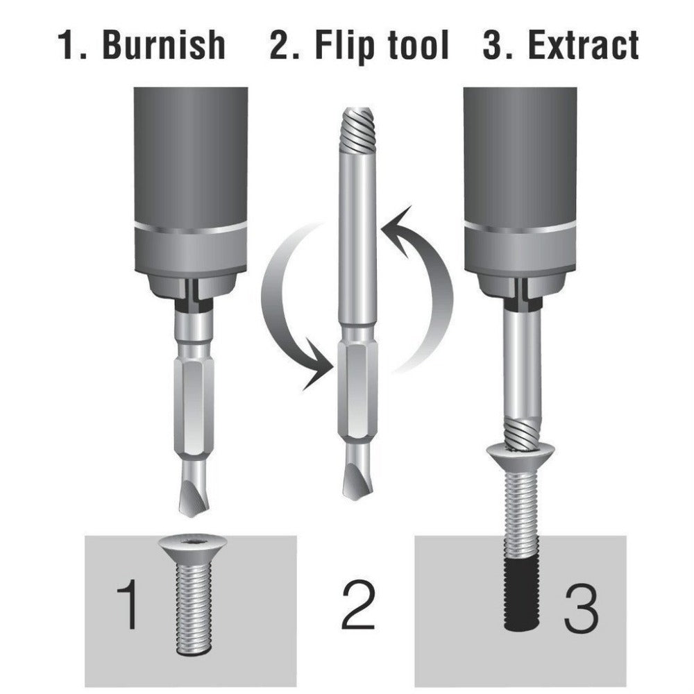 4Pcs Damaged Screw Extractor Set