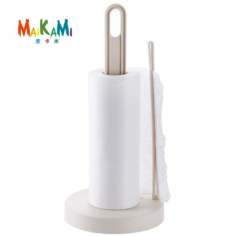 MAIKAMI Vertical Roll Holder Kitchen Paper Napkin Shelf Creative Desktop Punch - Tissue Storage Rack