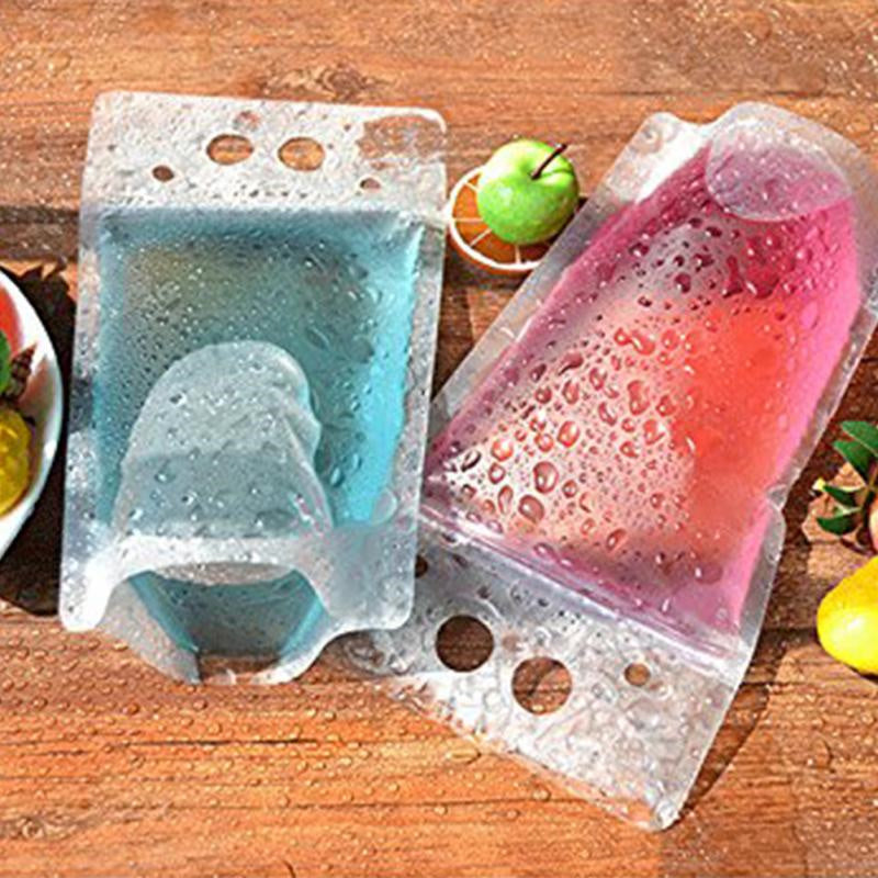 50pcs 450ml  DIY Drink Container Drinking Bag Fruit Juice Food Storage Bag Transparent Self-sealed Plastic Beverage Bag