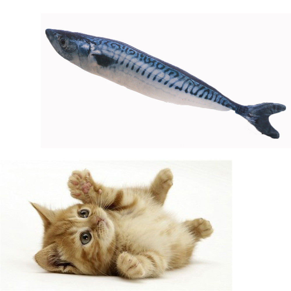 Cats Toys Kitten Chewing Dog Toy Stuffed Fish Mint Pet Interactive Supplies PUPPY B#