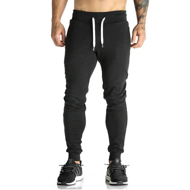 Newest Mens Sweatpants Autumn Winter Man Gyms Fitness Bodybuilding Joggers workout trousers Male Casual cotton Pencil Pants
