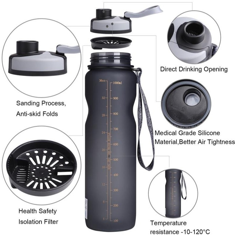 BPA FREE Leak-Proof Outdoor Fitness Sport Water Bottle