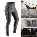 Women's High Waist Tummy Control Yoga Pants with Pocket