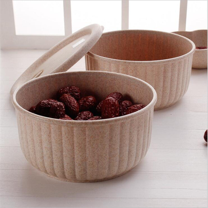 Wheat Straw Biodegradable Bowl Lunchbox with Lid