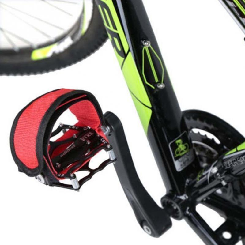 Bicycle Fixed Gear Cycling Pedals with Foot Straps