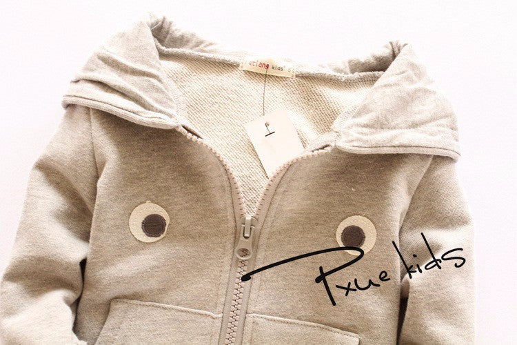 new Autumn&spring cartoon rabbit Children Outerwear vestidos hooded girls boy sweatshirt kids clothes,moleton infantilfree