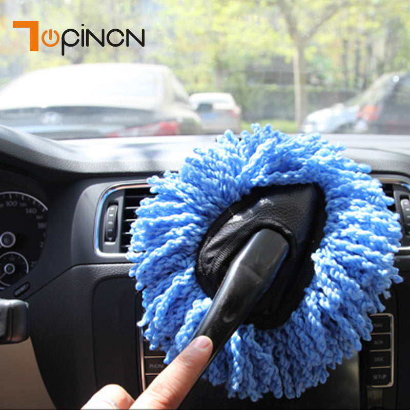 Image of Microfiber Auto Window Wash Cleaner Long Handle Dust Car Cleaning Brush Care Towel Handy Washable Car Dirt Dust Clean Brush Tool - $7.99 Free Shipping