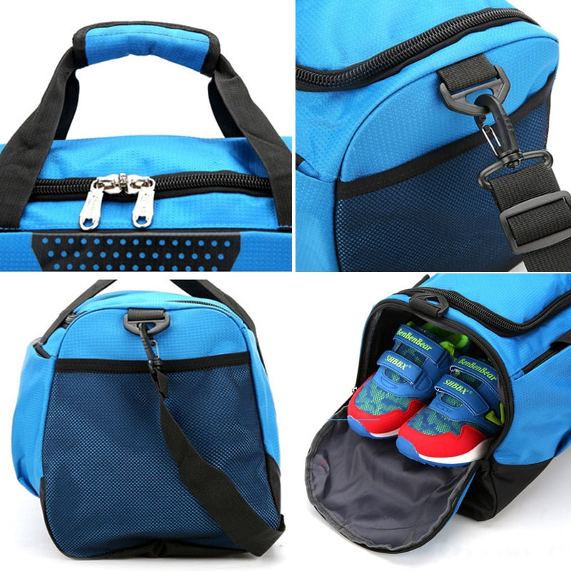 Professional Waterproof Fitness Trainers Bag with Shoes Pocket