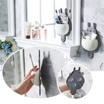 Mirror Mounted Bathroom Toothbrush Holder