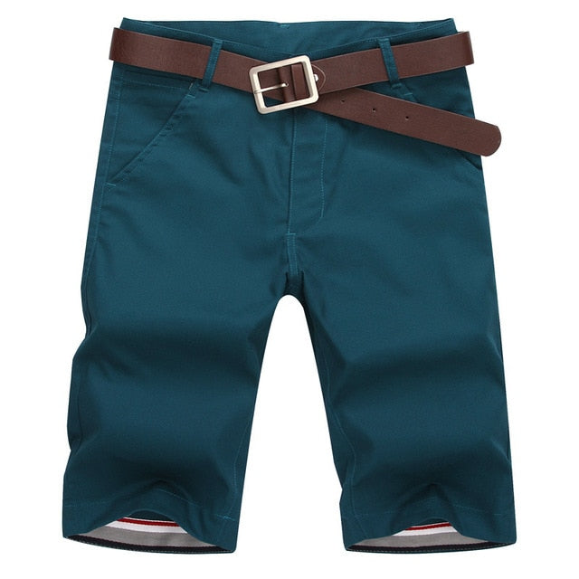 Men's Summer Fashion Solid Color Casual Bermuda Shorts