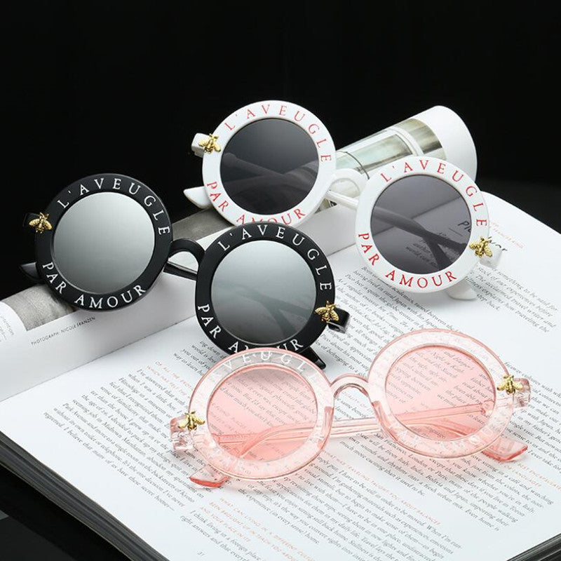 Retro Round Sunglasses Women Brand Designer Vintage Gradient Shades Sun Glasses UV400