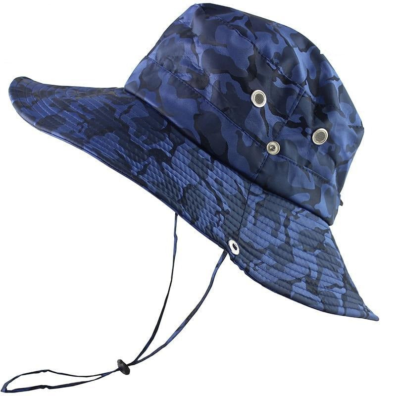 Outdoor UPF 50+ UV Protection Large Wide Brim Breathable Camping Hat