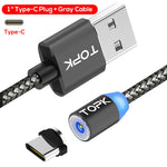 Magnetic Universal Interchangeable Nylon USB Fast Charge Cable with Magnetic Plugs