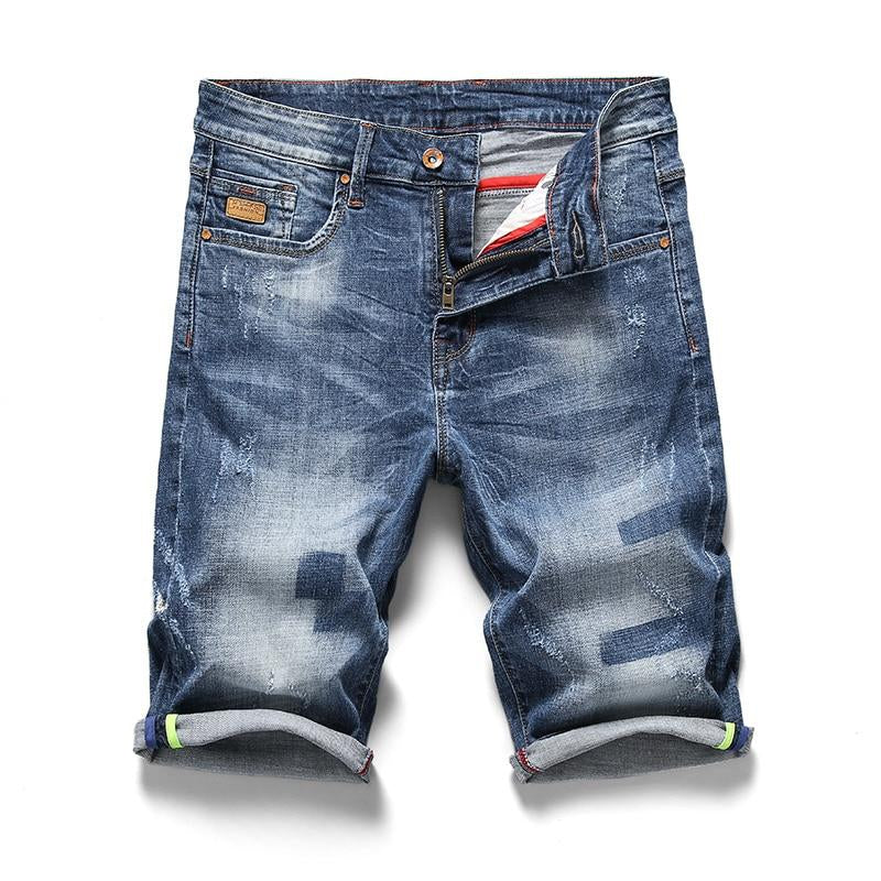 Men's Retro Nostalgia Denim Bermuda Shorts